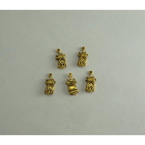 AUK-40252 Pakabukas mergaitė, send. aukso sp. 19x10mm