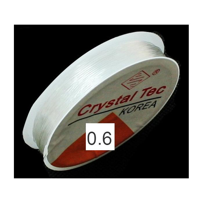 E-S63 Elastinis siūlas, 0.6mm, už ruloną 10m