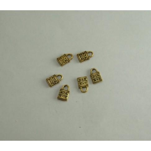 AUK-16813 Pakabukas spynutė, sendinto aukso sp. 13x8mm
