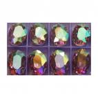 D-88772   Intarpas-detalė, 18x13mm, Kristalo, alyvinė AB