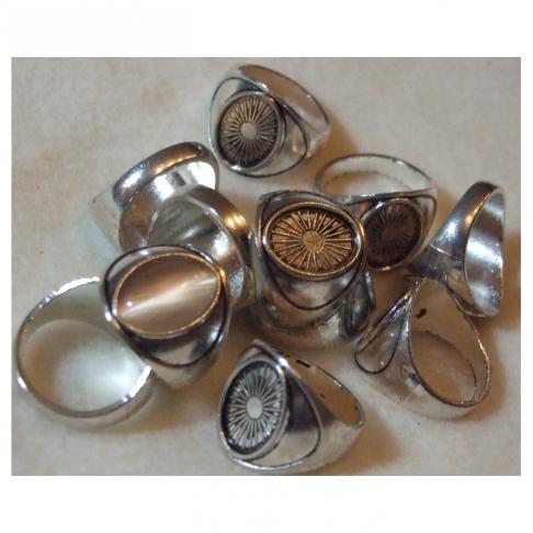 7-14472  Ruošinys žiedui, dydis apie 18, kabošonas tinka 14x10mm