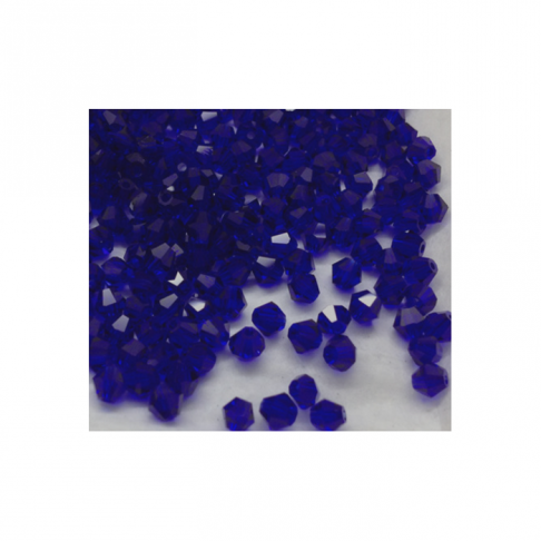KR-K3  bikone kristalo karoliukas 4mm, tamsi mėlyna