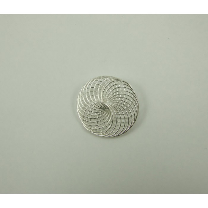 7-01173 Pakabukas, dengtas sidabru, apie 40mm, kaina už 1vnt.