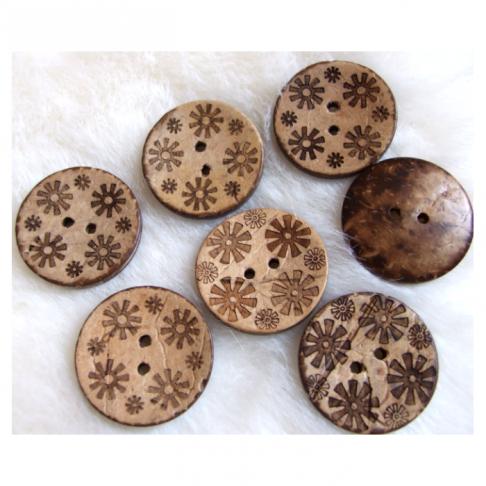 S-KOK1 Saga iš kokoso, apie 27mm,  ruda