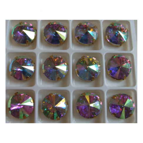 D-A14150  Intarpas-detalė, 14mm, kristalo, opalo AB
