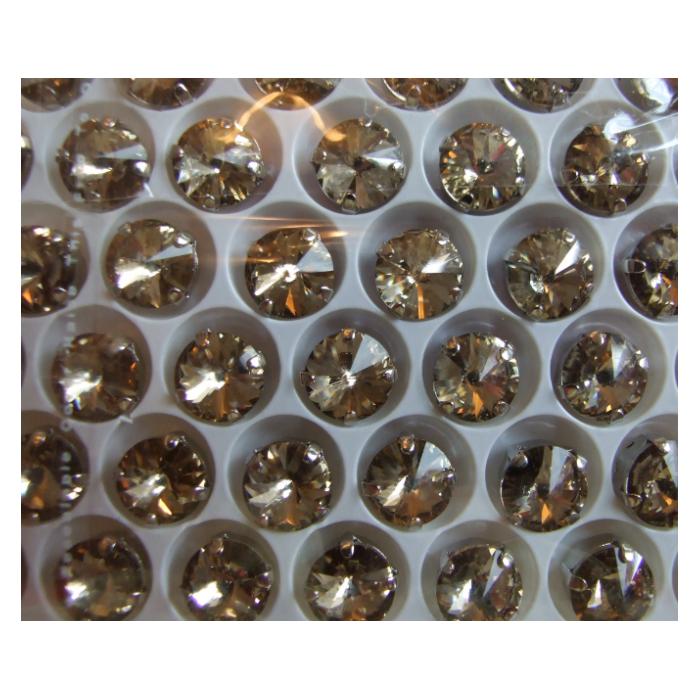 D-A14153 Intarpas-detalė, 10mm, kristalo, smėlio sp.
