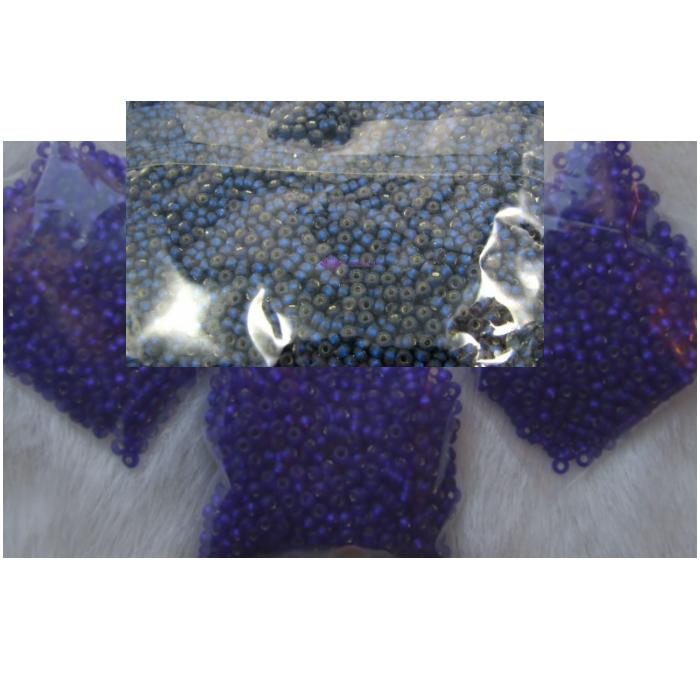 BIS-37100.10  Preciosia biseris, 2.3 mm, apie 10 gr., tamsiai mėlynai-viletinė sp.