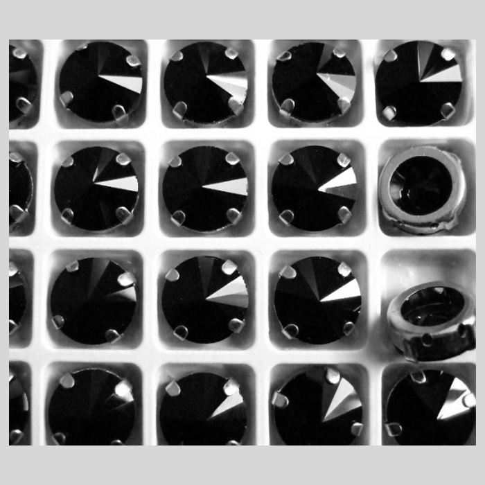 D-LS604   Intarpas-detalė, 14mm, kristalo JUODA