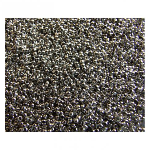 7-5552 Karoliukas-spaustukas, 1.5-2mm. už 5gr.(apie 450)  tamsesnio sid., sp.