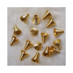 AUK-10100  spyruoklinė kepurėlė, 10mm, aukso sp.
