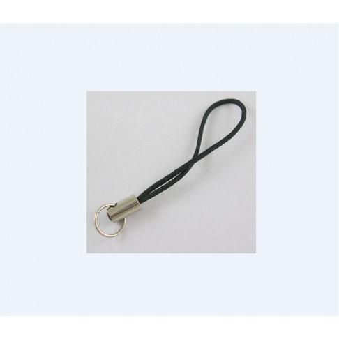 VIR-01277 Virvutė pakabukams, juoda, 45mm
