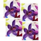 """G-ORH1  Dirbtinė gėlytė, """"Orchidėja"""",  apie 6-7 cm, VIOLETINĖ"""