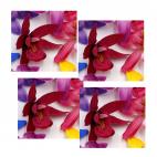 """G-ORH2  Dirbtinė gėlytė, """"Orchidėja"""",  apie 6-7 cm, AVIETINĖ"""