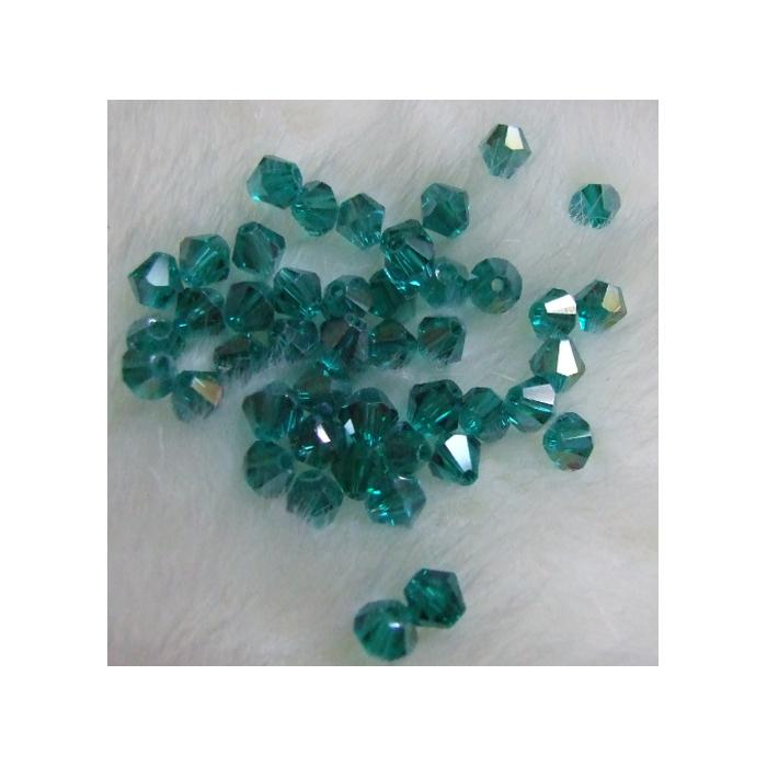 KR-BK4 Kristalo karoliukas, 4mm, emerald ŽALIA