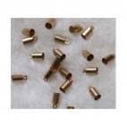 AUK-4549  Kepurėlė-užbaigimo detalė, send., aukso sp., 4-5mm virvutei