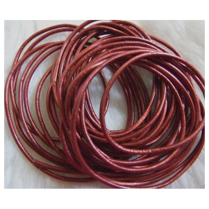 J-PR203  Odinė virvutė, 2mm, už 1.60m, (sukarpyta po 1.60m), PERLAMUTRINĖ BORDO