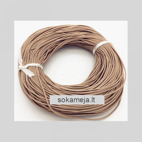 V-NAT1072 Nat., odos virvutė, 1.5mm, už 10 metrų, SMĖLIO sp.