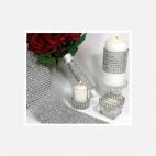 DEK-2020  Akrilinė dekoravimo juostelė, sidabro sp., 2cmx45cm