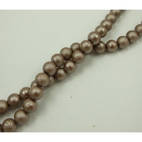 PER-12453 Stik. dekoruotas perlas, 12mm, smėlio sp.