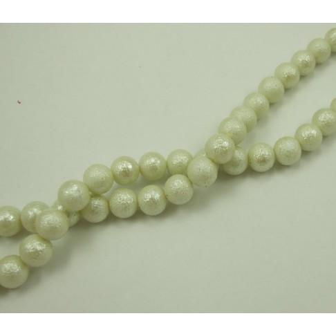 PER-124505 Stik. dekoruotas perlas, 12mm, kreminės sp.