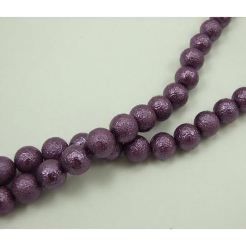 PER-124149 Stik. dekoruotas perlas, 12mm, violet sp.