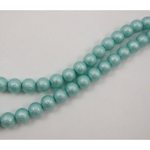 PER-124146 Stik. dekoruotas perlas, 12mm, akvamarino sp.