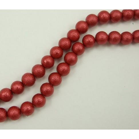 PER-124148 Stik. dekoruotas perlas, 12mm, bordo sp.