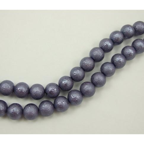PER-124501 Stik. dekoruotas perlas, 12mm, alyvinės sp.