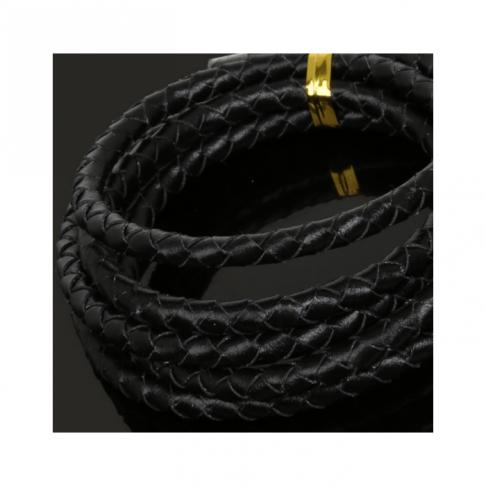 OD-5M133 Nat., odos pinta virvutė, 5mm, 1 metras, JUODA