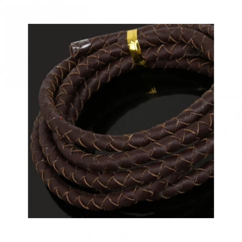 OD-5M134 Nat., odos pinta virvutė, 5mm, 1 metras, tamsi RUDA
