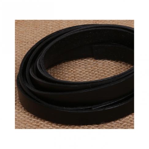 V-NAT5244   Natūralios odos juostelė, 10mmx 2mm , JUODA, kaina už 1m (+ - 2cm)