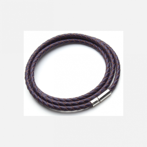 V-NAT584  Nat., odos virvutė su užsegimu, apie 58 cm x  4 mm, tamsi violetinė