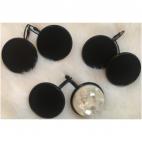 JUOD-2523  Ruošinys auskarams ,  kabašonai tinka apie 25mm