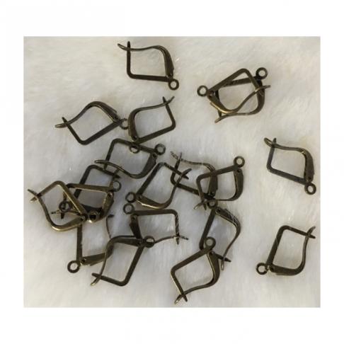 ZAL-1322  Auskarams kabliukai, uždari, už porą, 18x13mm