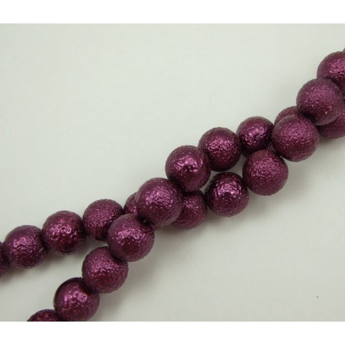 PER-88015 Stikl. dekoruotas perliukas, 14mm, violet sp.
