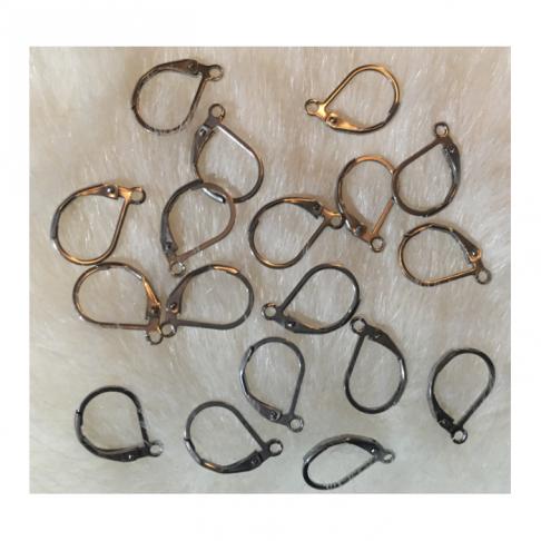 7-PS104 Uždari kabliukai auskarams, nerūdyjančio plieno, už porą