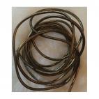 V-NAT445 Nat., odos virvutė, 1,5-2mm, už 1.50m.,  perl., RUDA
