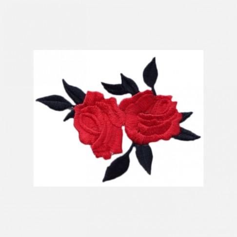 """APL-R1  Aplikacija """"Rožės"""", klijuojama, 8x6.5 cm,  RAUDONA"""
