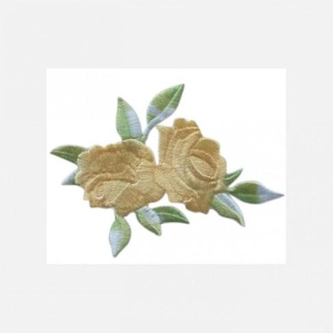 "APL-R4  Aplikacija ""Rožės"", klijuojama, 8x6.5 cm,  GELSVA"