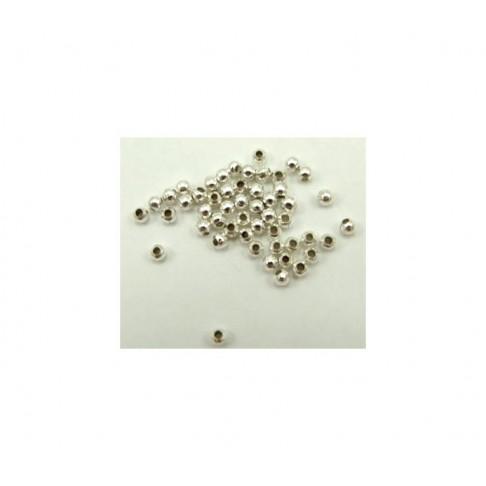7-33114 Karoliukas-fiksatorius 3mm, sidabruotas, kaina už 50
