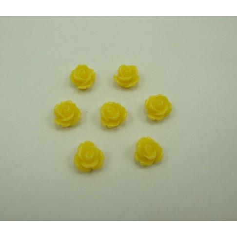 14-185 Akrilinė gėlytė, geltona, 10mm