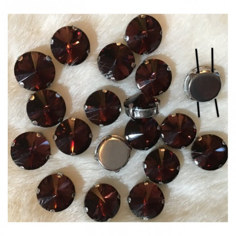 DT-KR11  Intarpas-detalė, 14 mm, kristalo  GRANATO sp.