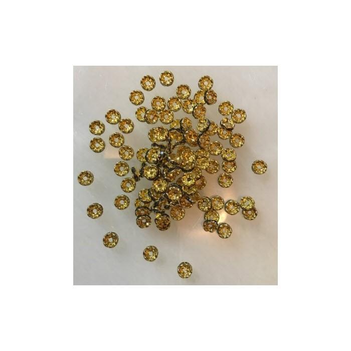 AUK-TP55M  Intarpas, 5mm, su kristalo akutėm, PILKA DEIMAMTO sp.