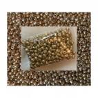 BIS-AUK788 Biseris, aukso sp., apie 4mm, kaina už 20 gr.
