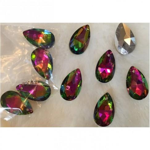 KR-44710 Kristalo pakabukas, 22mm, už 2 vnt., TAMSI AB