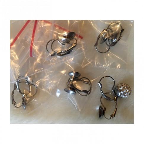 7-NP993 Nerūdyjančio plieno , auskarams,  už porą, tinka apie 12mm karoliukai
