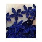 NER-SM1  Medžiaginės gėlytės, 24 vnt, (1 metras), Tamsiai MĖLYNOS