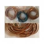VIR-N1113 B kl., natūralios odos virvutė, apie 2mm, 60cm, perlamutrinė RUDA