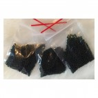 BIS-501501-9 Preciosia biseris, 2.4-2.5mm, apie 10 gr., Tamsiai ŽALIAS