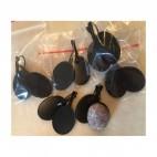JUOD-18981 Ruošinys auskarams, tinka kabašonai apie 18x25mm